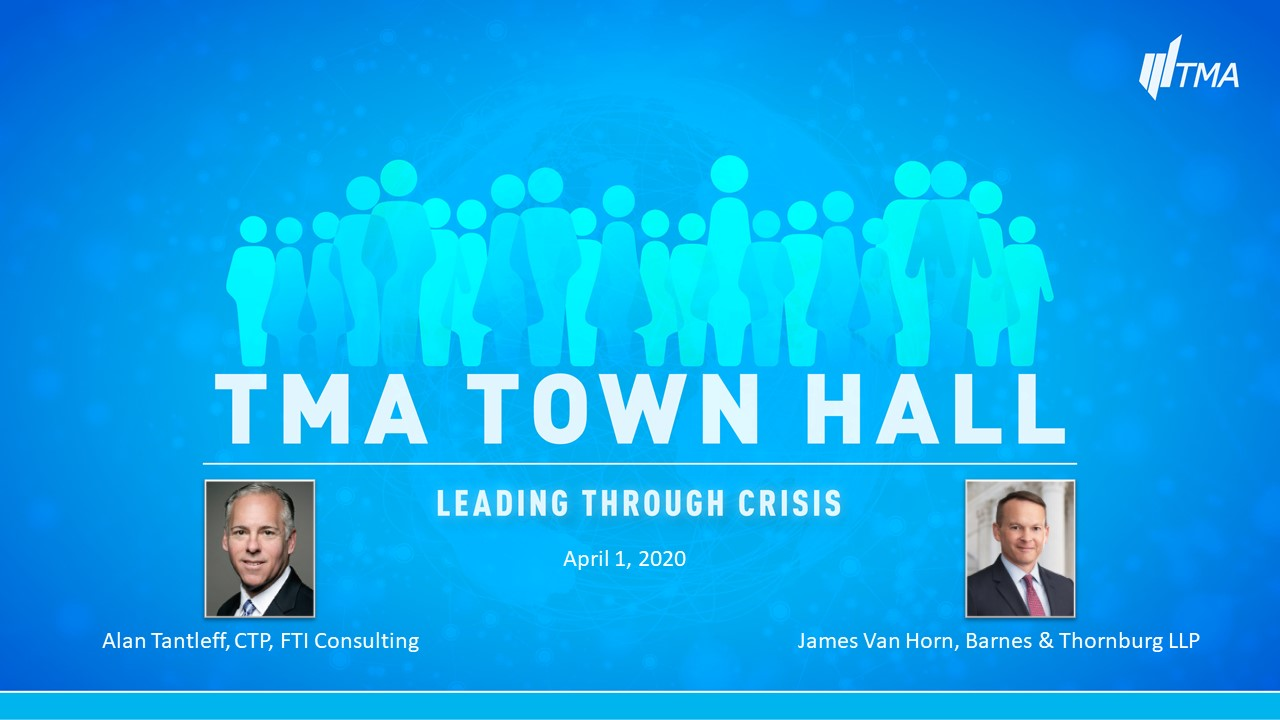 TMA Town Hall for April 1, 2020
