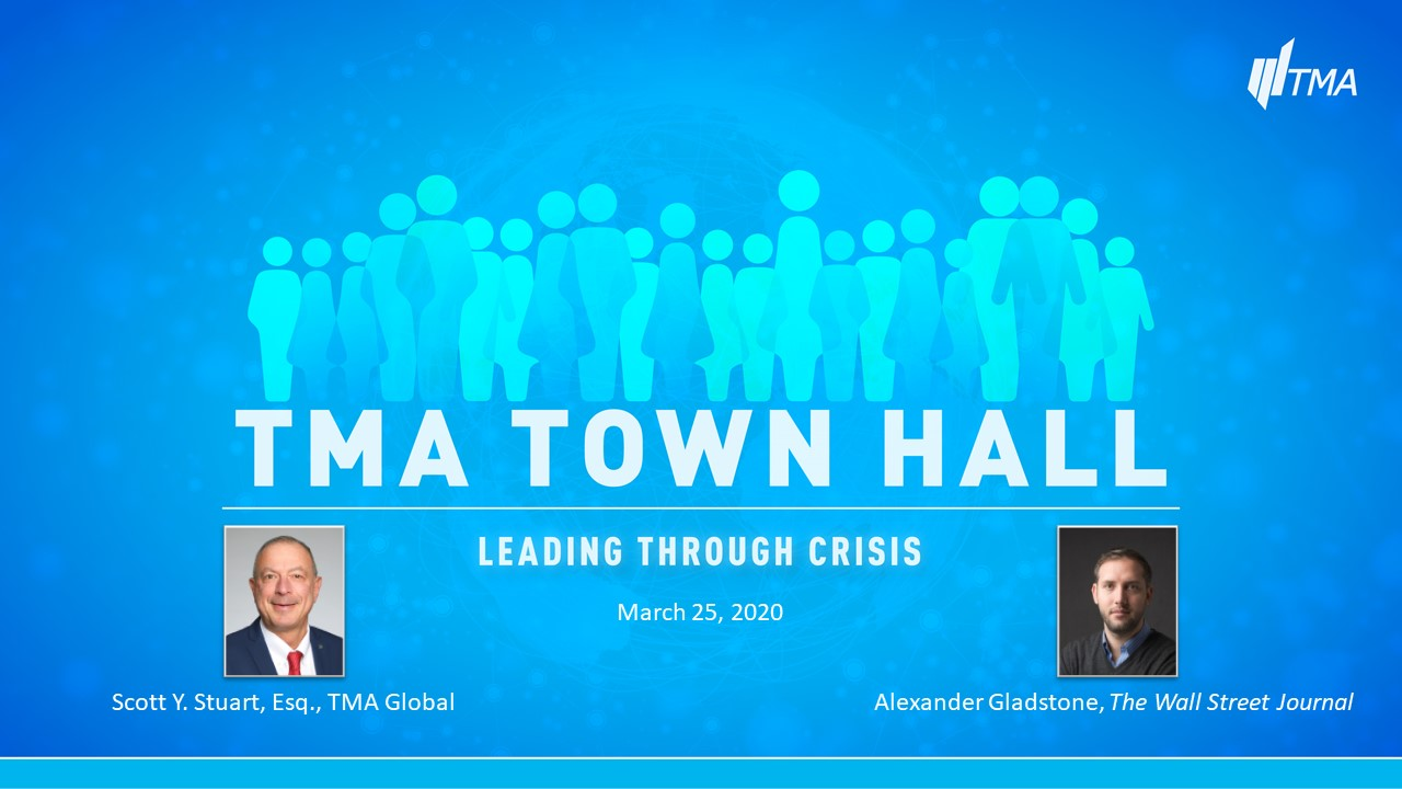TMA Town Hall for March 25, 2020