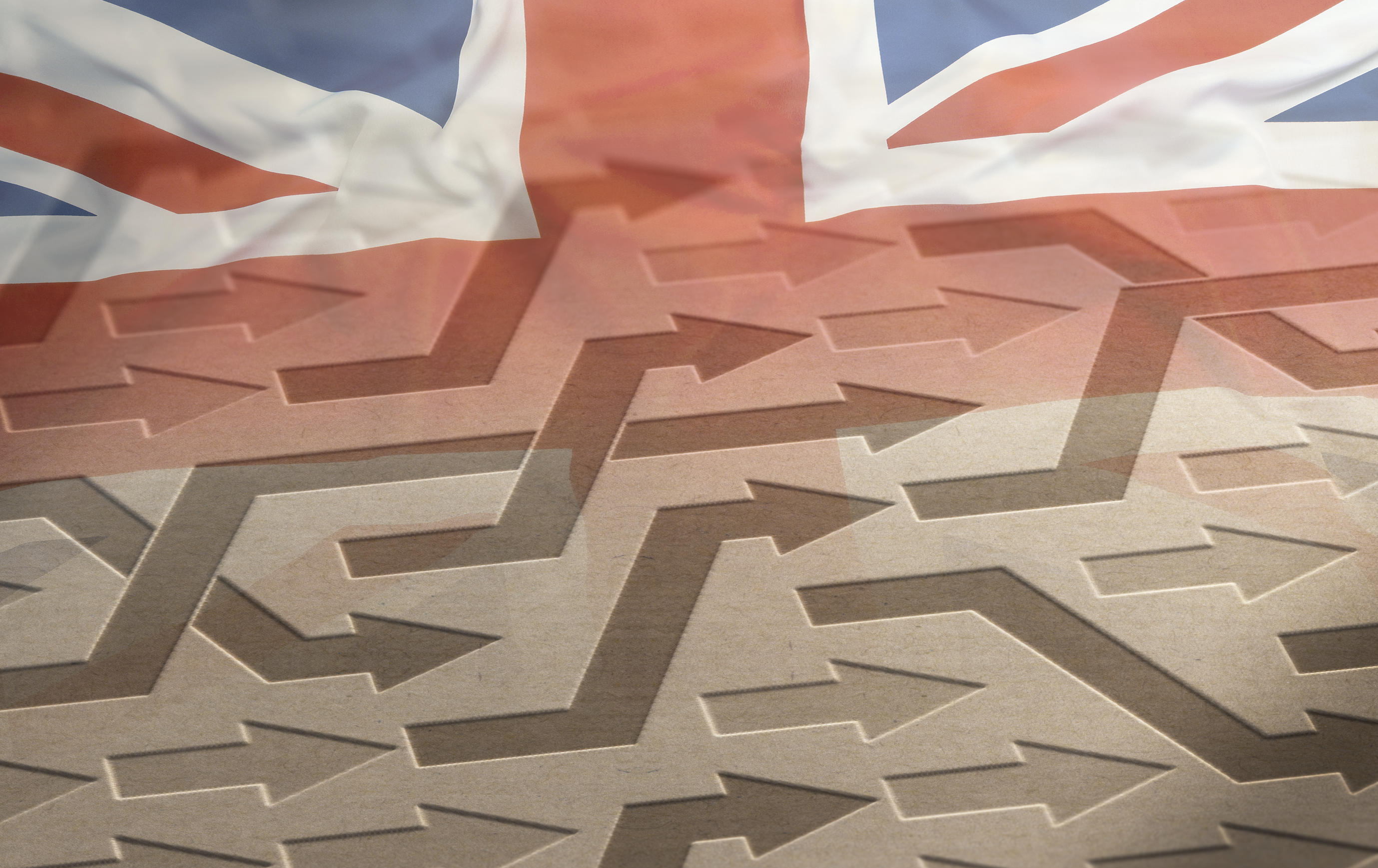 UK Flag and Arrows