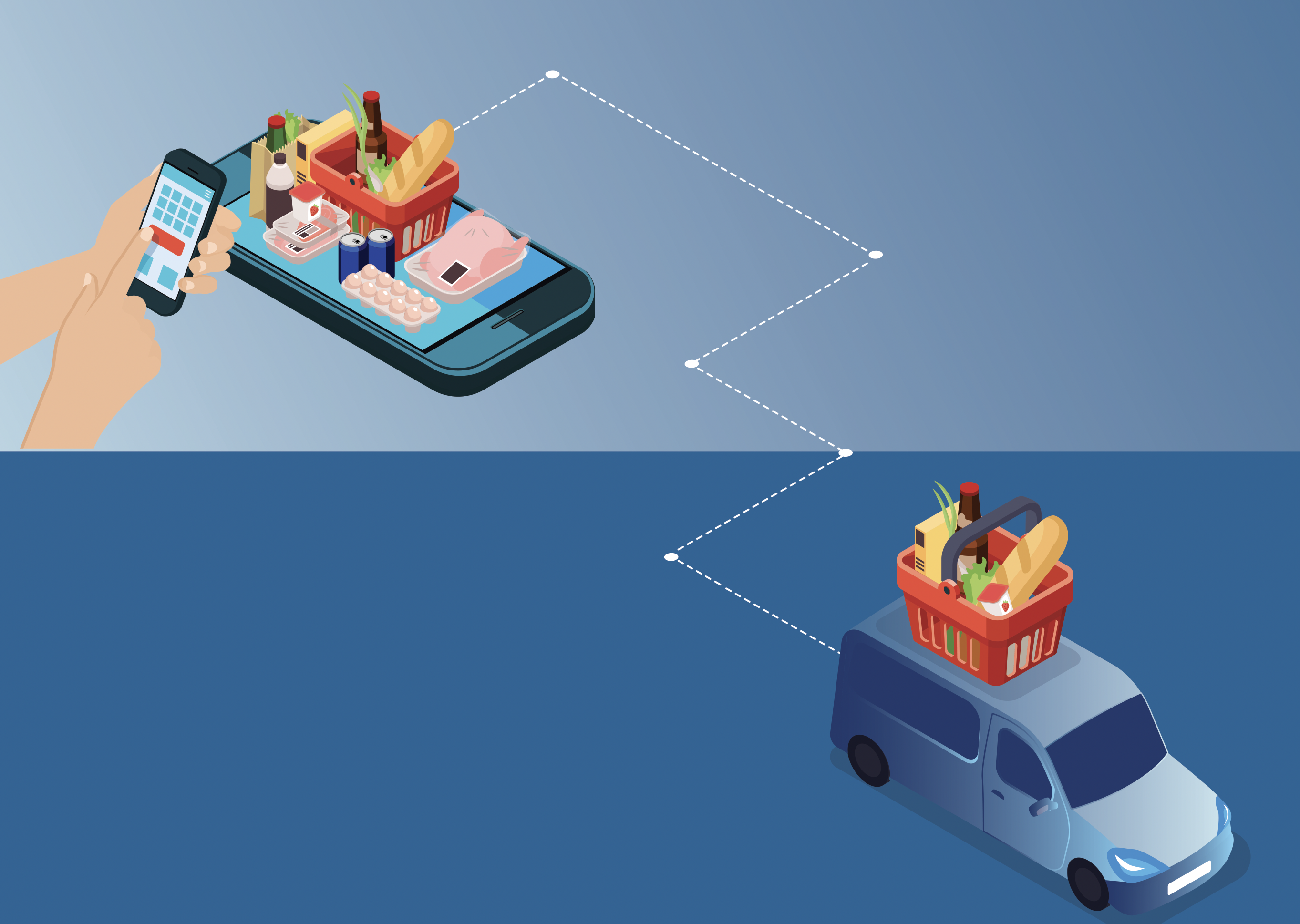 Pandemic Sparks Exponential Growth  in Grocery Delivery Services