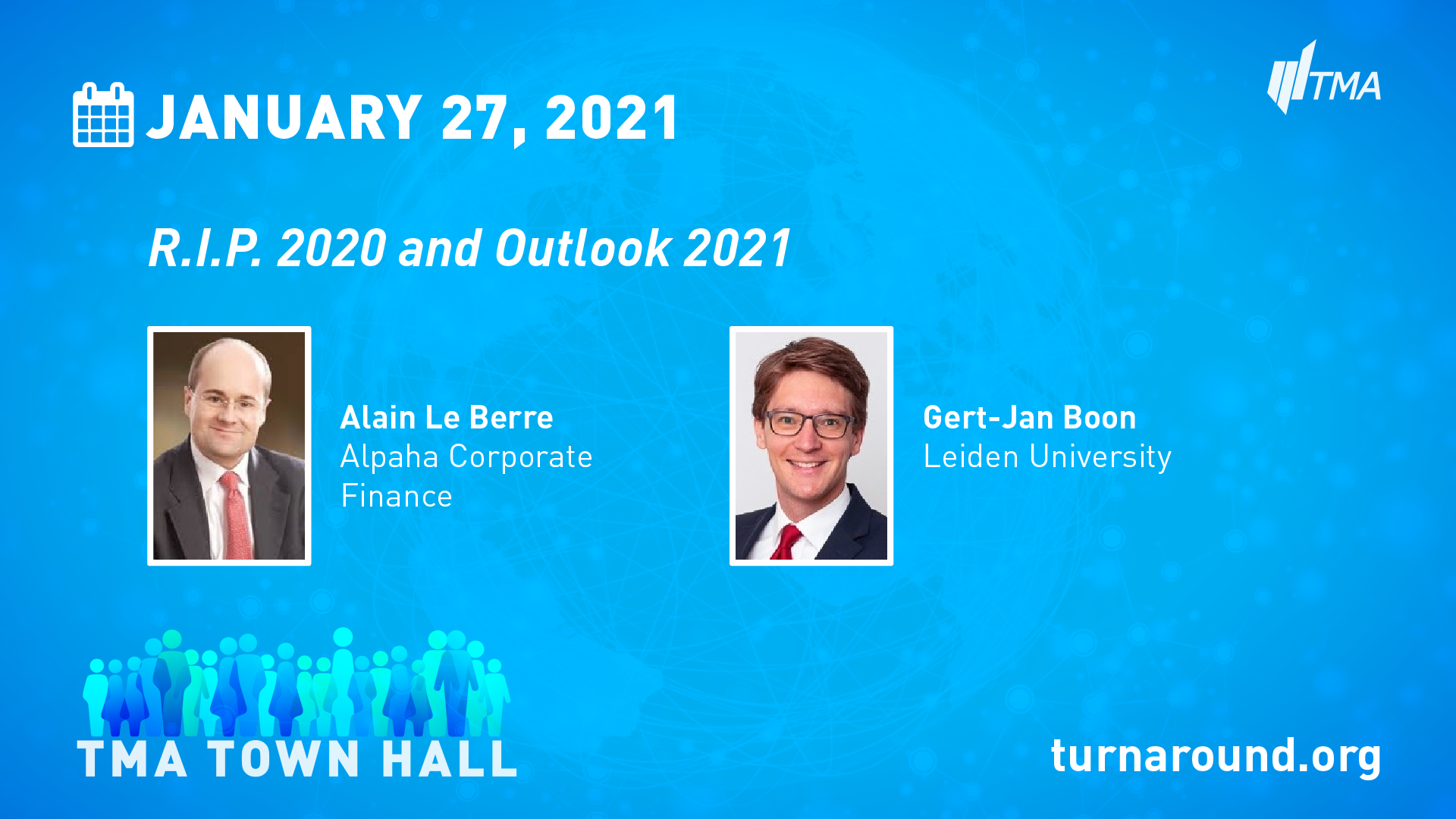 TMA Town Hall for January 27, 2021
